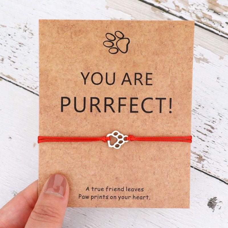 You Are Pawsome браслет с фигуркой собаки, с принтом лапы, браслет для собаки, мамы, подарок для любимой собаки, подарок для собаки, ювелирные издели...