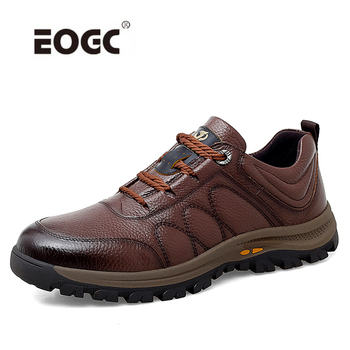 Comfort Men Casual Shoes Flats Spring Autumn Genuine Leather Wear-resistant British Style Outdoors Walking