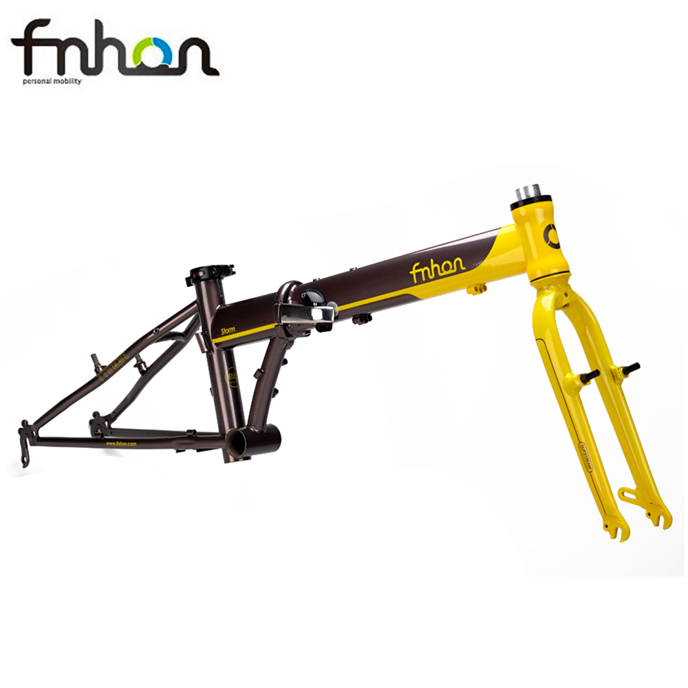 Fnhon Chrome Steel Folding Bike Frame Alloy Fork 20