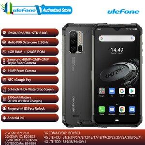 Image 1 - Wersja globalna osłona Ulefone 7E Smartphone 4GB + 128GB wytrzymały telefon komórkowy wodoodporny IP68 Android 9.0 Octa Core NFC bezprzewodowy OTG