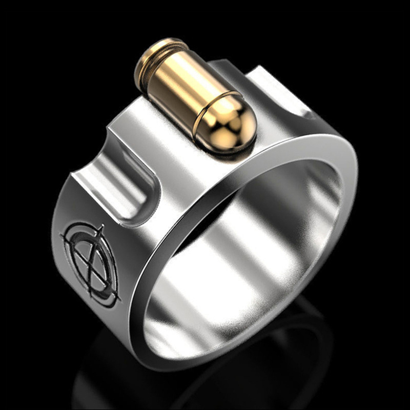 Men And Women's Self-defense Ring Powerful Personality European And American Hipster Alloy Jewelry Self-defense Ring Index Finge