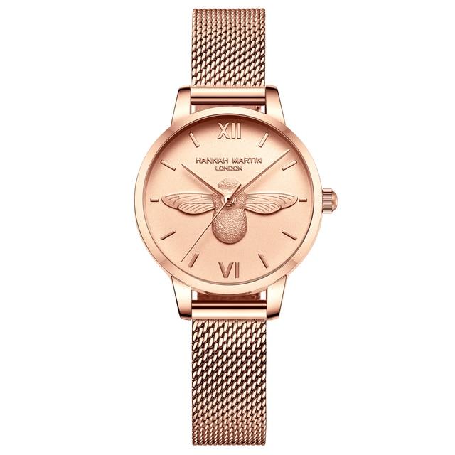 Women Watches Mesh Stainless Steel 3D design dial Japan Quartz Movement Top Brand Female Waterproof Wristwatch Clock Relogio 1