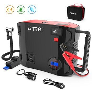UTRAI arrancador de batería de coche 24000mAh 2000A paquete de energía de batería de coche portátil cargador de refuerzo dispositivo de arranque de dispositivo de arranque para vehículo diésel