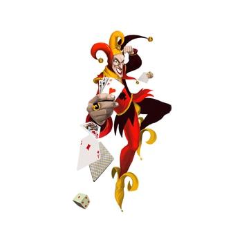 Dawasaru Fun Clown Poker Magic Car Sticker Personalized Decal Laptop Truck Motorcycle Auto Accessories Decoration PVC,17cm*9cm dawasaru fashion car stickers racing greyhounds car window sticker animal decal for motorcycle auto truck laptop pvc 16cm 5cm