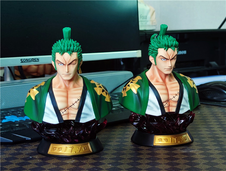 Anime One Piece Figure One Piece Roronoa Zoro Luffy Bust PVC Action Figure Toys