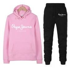 2021 ladies sportswear ladies hooded sweatshirt casual two-piece sportswear sportswear fashion suit winter new clothes