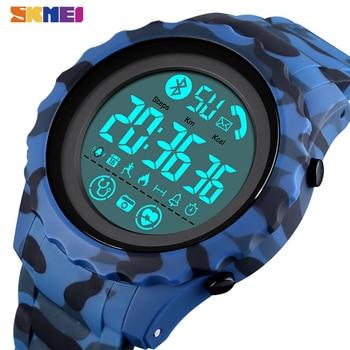 SKMEI Bluetooth Sport Mens Watch APP Call Reminder Wrist Smart Watch Heart Rate Watches Men Luminous reloj inteligente 1626