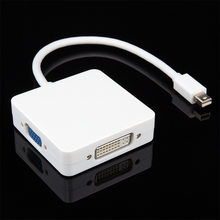 Mini DP DisplayPort-VGA + HDMI + DVI 컨버터 케이블 번개 MacBook(China)