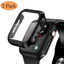 Protecteur d'écran en verre trempé, 2 pièces, pour Apple Watch série 6 5 4 3 2 SE 44mm 40mm 42mm 38mm iwatch 38 40 42 44mm, Protection de Film