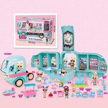 L.O.L Surprise – poupées LOL 2 en 1 pour enfants, jouets originaux, à faire soi-même, Bus, maison, cadeau d'anniversaire pour filles