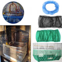 Easy Cleaning Bird Cage Covers Mesh Seed Catcher Guard Bird Cage Net Shell Skirt Dust-proof Airy Mesh Parrot Cage Cover 2 Sizes