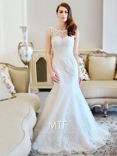 Romantic Fashionable Appliques Beading Vestido De Novia Casamento Bridal Gown Mermaid Free Shipping Mother Of The Bride Dresses