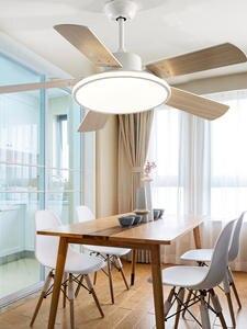 Потолочный вентилятор, светильник в скандинавском стиле, современная столовая, спальня, гостиная, ресторан, вентилятор из цельного дерева, ...