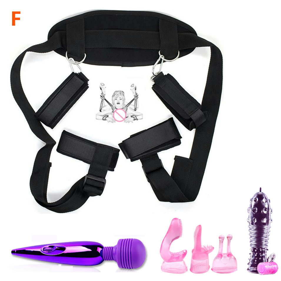 <font><b>Sexy</b></font> <font><b>Lingerie</b></font> With Sex Toys And Bdsm Eye Mask Handcuffs Bondage Set For <font><b>Men</b></font> Women Gay Party Adults Games,Erotic Intimacy Costume image