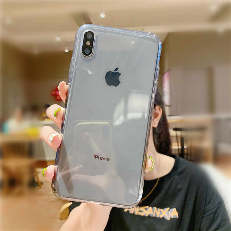 Candy kleurrijke Transparante Shockproof funda Telefoon Case Voor iPhone 11 X XR XS Max 6 6S 8 7 Plus zachte TPU Siliconen Back Cover Capa