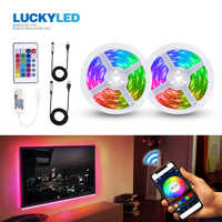 LUCKYLED 5v Led Strip USB 2835 SMD Flexible RGB Tape Led Ribbon WIFI Led Strip Light TV Backlight With Remote 24Key 3Key Control