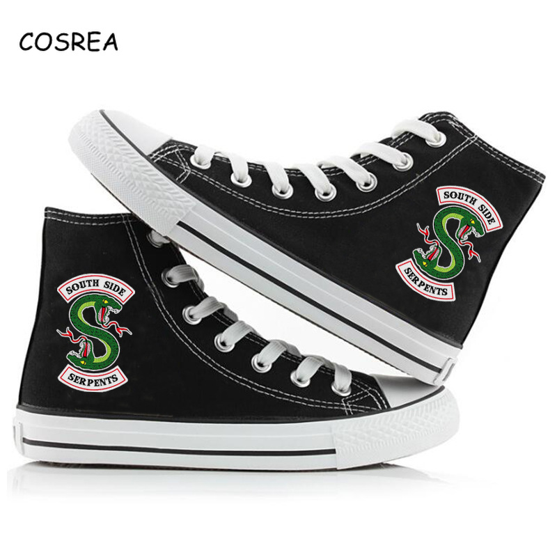 Riverdale Men/'s South Side Printed Snakes High Casual Canvas Shoes