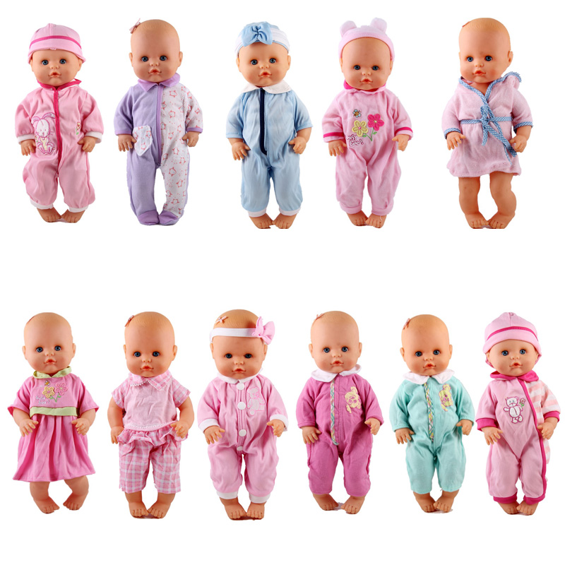 New Comes 13inch Doll Clothes 35CM Nenuco Ropa Accesorios Nenuco Y Su Hermanita 11 Styles Different Jumpsuit Dress Outfits
