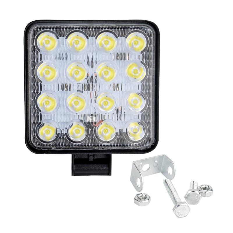 Car Work Light 48W Square High Brightness LED Off-Road Car Light Spotlight Headlight