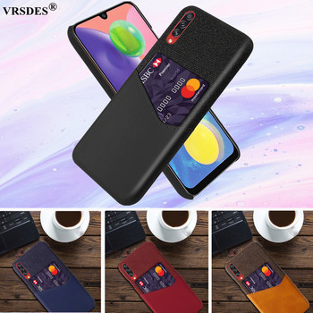Business Phone Case For Samsung Galaxy A70s A50s A30s A10s Retro Slim Card Slots Cover Pocket Case For Samsung A9s A8s A6s Capa image