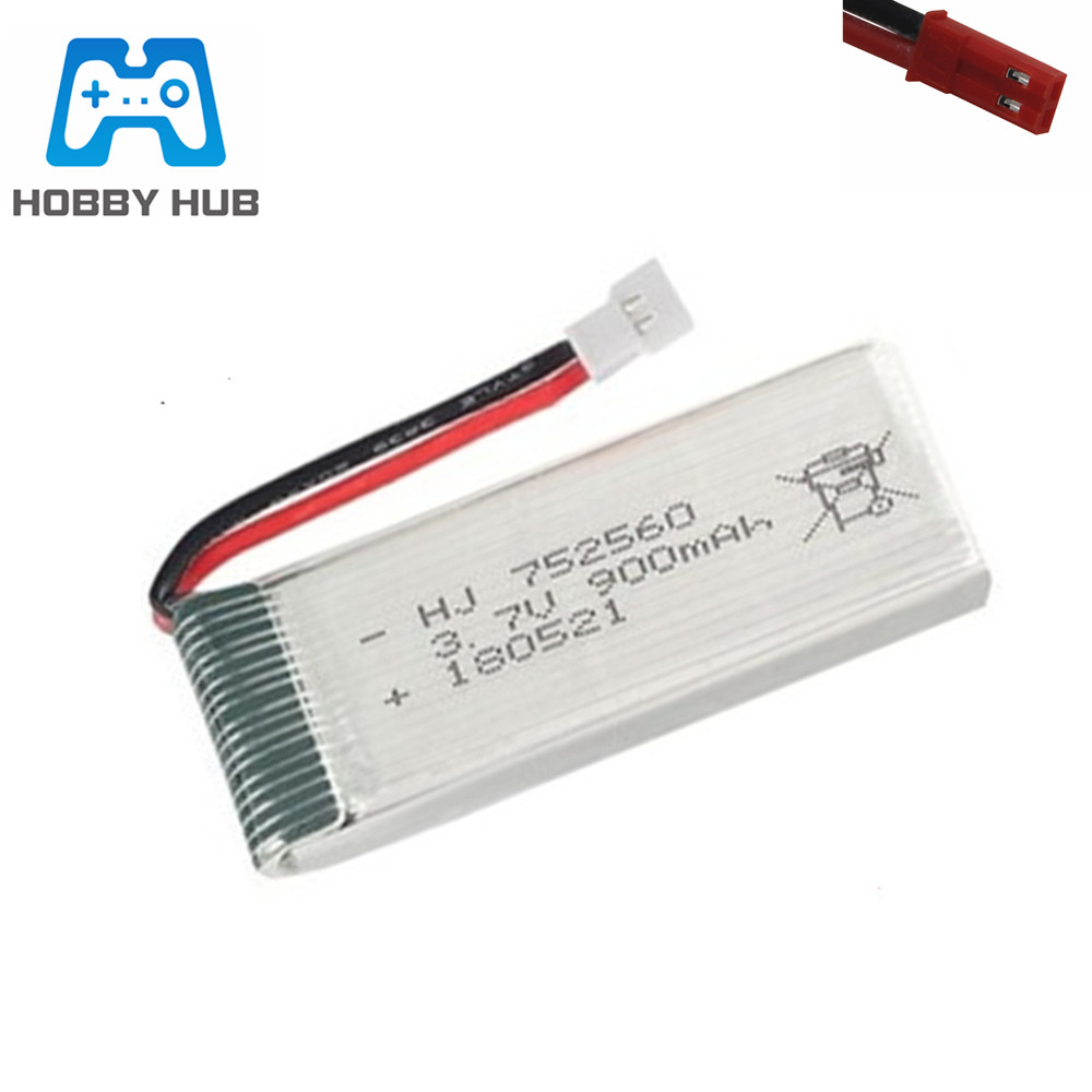 3.7V 900mah lipo Battery For 8807 8807W A6 A6W M68 Rc Drone Quadcopter Spare Parts 3.7v battery <font><b>752560</b></font> jst/xh2.54 plug 1-20pcs image