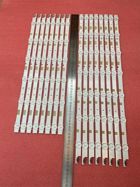 16 PCS/set LED backlight strip for Samsung UE50JU6800 UE50JU6850 UE50JU6800K UE50JU6850 BN96 38479A 38480A V5DR_500SCA 500SCB_R1