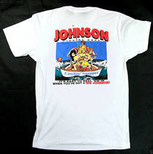 New 90s Big Johnson T-Shirt Fishing Rods Reel Cotton Tee Vintage Rare TOP USA !!(China)