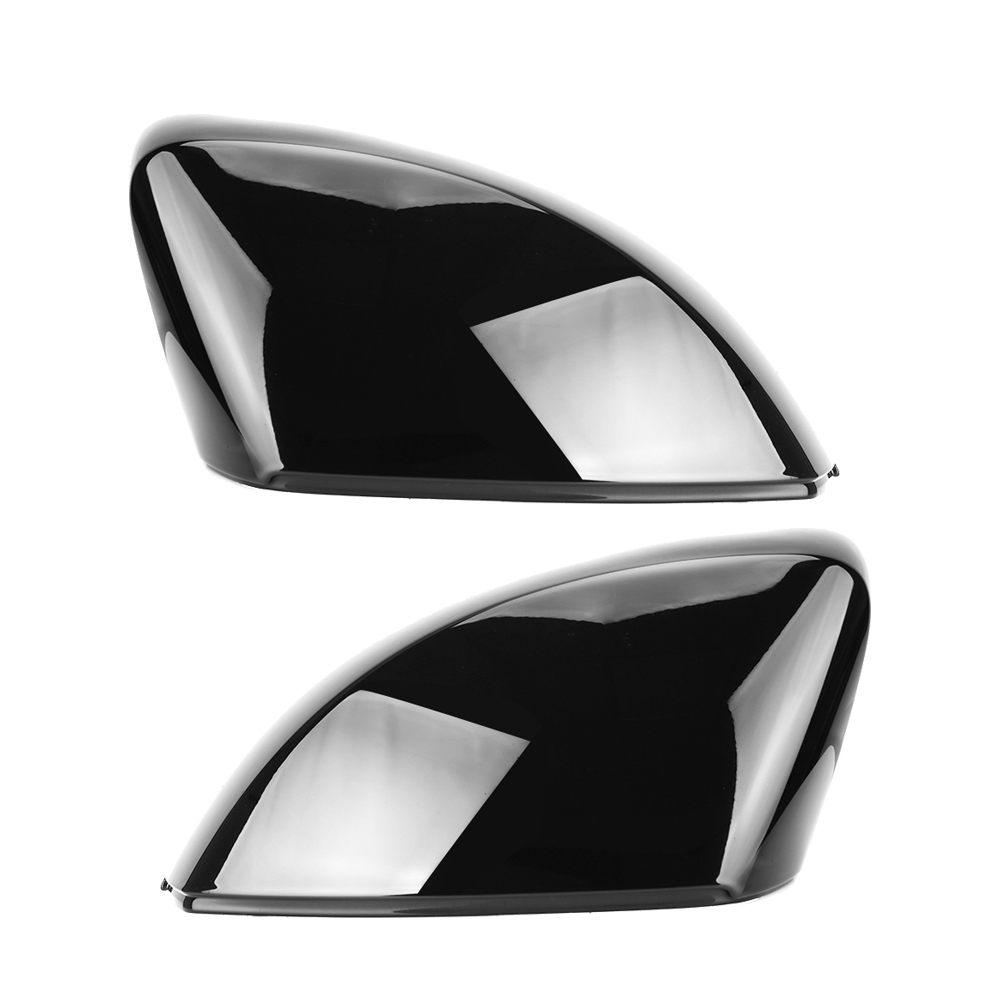 2pcs Replacement Side Mirror Cap Covers for <font><b>Audi</b></font> <font><b>A3</b></font> S3 8V RS3 Glossy Pearl Black 2013 2014 <font><b>2015</b></font> 2016 2018 2017 2019 image