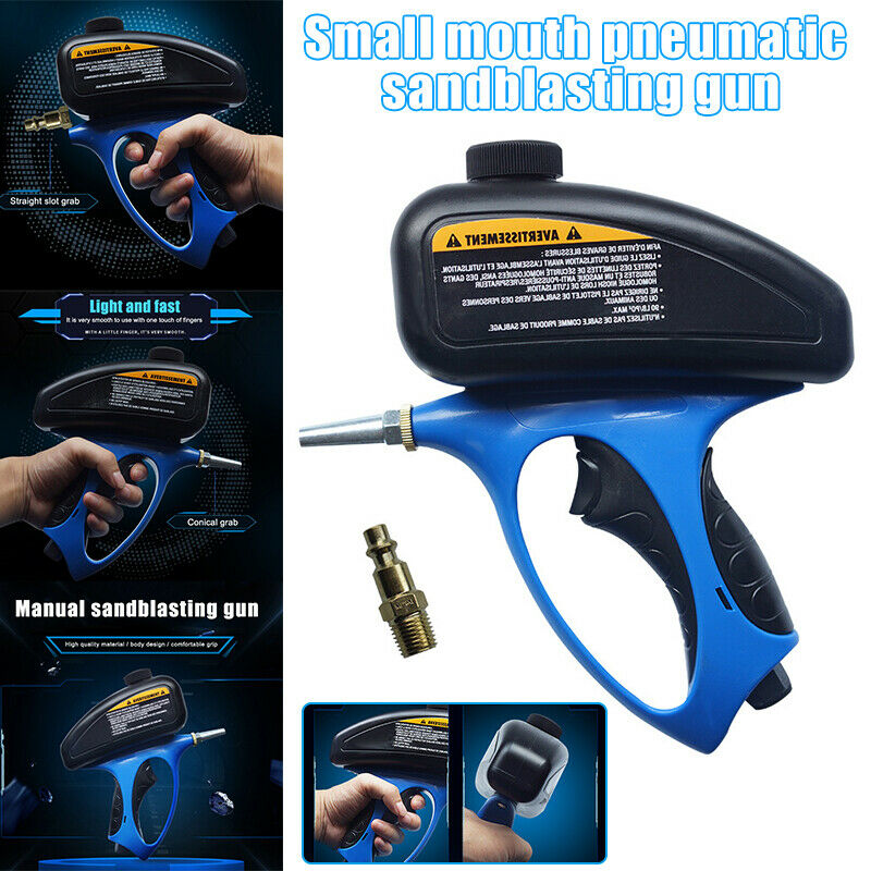Anti-rust Portable Sandblaster Handheld Pneumatic Sand Blasting Machine Glass Sprayer Sandblasting Machine Small Nozzle Tool
