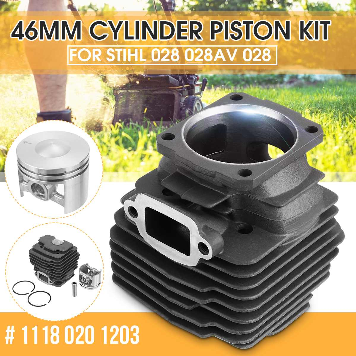 46mm Cylinder Piston Kit For STIHL 028 028AV 028 SUPER Q W WB Chainsaw Engine Motor Parts OEM#11180201203