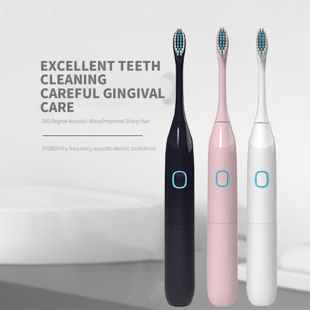 Sonic Vibration Toothbrush Soft Hair Whitening Toothbrush Child Adult Universal toothbrush image