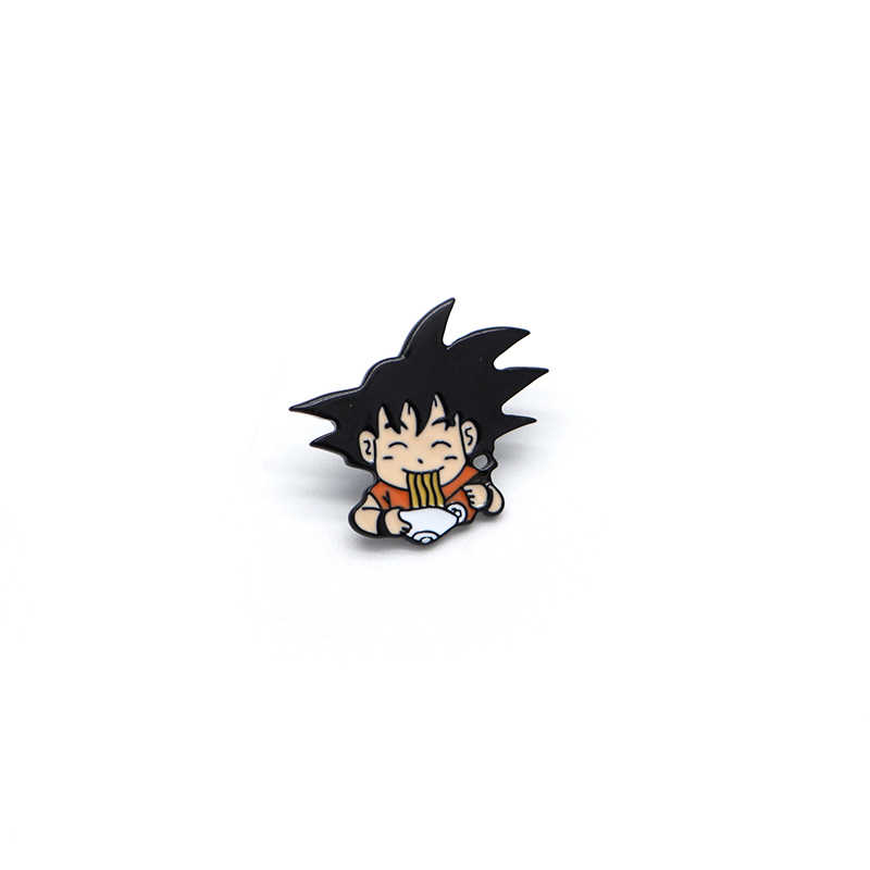 Son Goku Eten Noodle Emaille Pins Voor Kinderen Japanse Anime Dragon Ball Broches Revers Pin Hoed Tas Pins Broche Rugzak badge A83