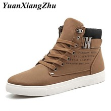 Mens Casual Shoes Lace-up High Top Men Shoes Fashion Sneakers 2019 Autumn Comfortable Non-slip Canvas Male Shoes Big Size 38-47