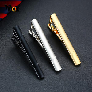 Vnox Mens Classic Tie Clips Black and Gold Tone Gifts for Him Jewelry Accessory