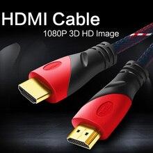 BESIUNI HDMI кабель позолоченное соединение с красной, черно-белой сеткой 1080P, 0,5 м, 1 м, 1,5 м, 2 м, 3 м, 5 м, 8 м, 10 м, 15 м