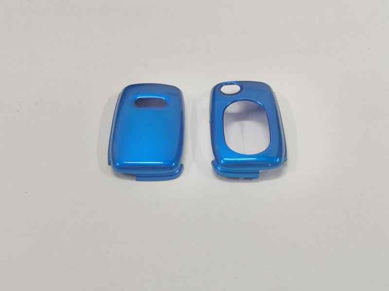 Parlak metalik mavi renk (Oval şekil) sert plastik uzaktan anahtar koruma durumda Audi A3 8L A4 B5 B6 TT MK1 A6 C5