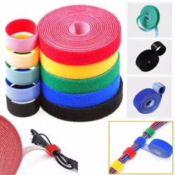 5Meter 15mm Color Velcros Self Adhesive Cable Tie Reusable Strong Hooks Loops Fastener Tape Magic tape DIY Accessories