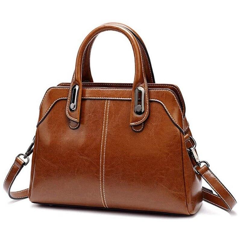 Large Bucket Shoulder Bag, Polyester Wear Resistant Large Bag, Ladies Fashion Simple Handbag Brown