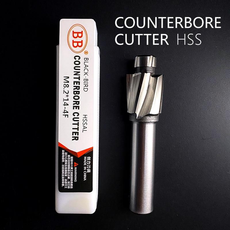 BB Counterbore End Milling Tool M3-M16 Flat Bolt Holes Countersink Milling HSS 1-8PCS