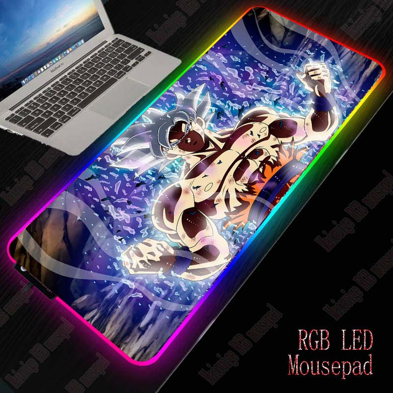XGZ Dragon Ball RGB Mouse Pad Computer Mousepad LED Gaming Mouse Pad Gamer Large Mause Pad USB for Keyboard Mice PC Desk Mat 1