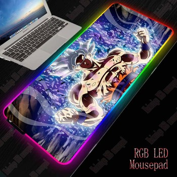 XGZ Dragon Ball RGB Mouse Pad Computer Mousepad LED Gaming Mouse Pad Gamer Large Mause Pad USB for Keyboard Mice PC Desk Mat