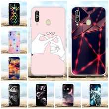 For Samsung Galaxy A60 Case Soft TPU Silicone SM-A606F Cover Love Patterned Funda