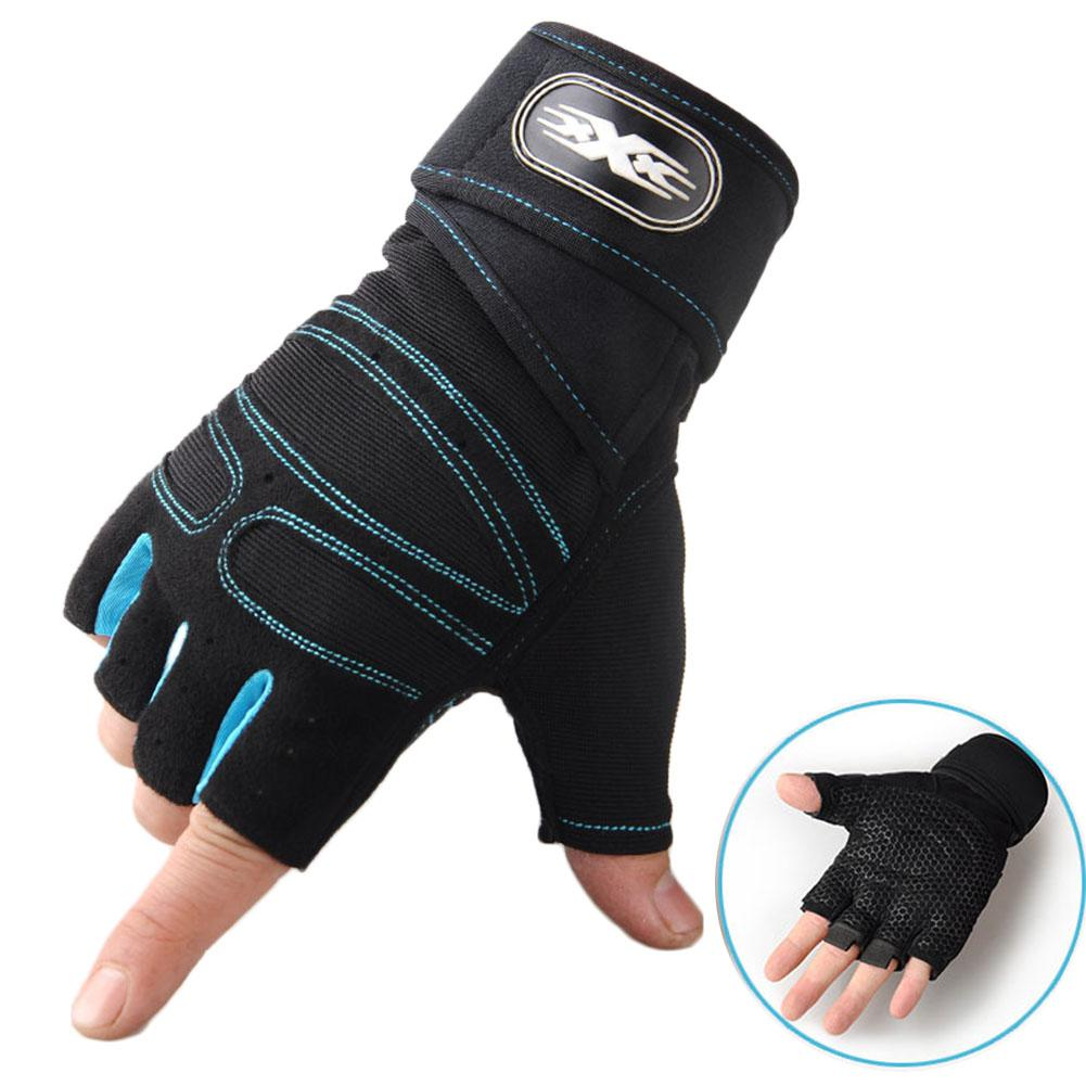 Man Anti-Skid Half Finger Gloves Comfortable Breathable Sports for Outdoor Cycling Weightlifting