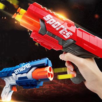 Eva miękki pocisk s pistolety zabawkowe rzutki Airsoft Kids Toy Hollow Hole Foam Head miękki pocisk strzałki z możliwością napełnienia bezpieczne pistolety zabawkowe dla chłopców Outdoor tanie i dobre opinie 7-12y 12 + y 18 + CN (pochodzenie) Age over 6 Unisex Airsoft Gun Toy Pistolet zabawkowy Mini odlew