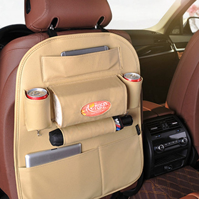Auto Car Seat Back Multi-Pocket Storage Bag Organizer Holder Accessory ..