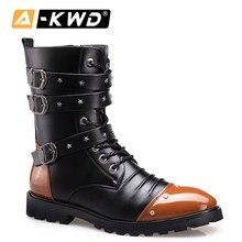 Moda uomo stivali inverno scarpe calde uomo Botas Hunter stivali alti da uomo stivaletti in pelle Pu uomo scarpe militari Sneakers uomo 37-44
