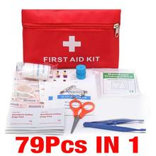 Kit Treatment Pack Outdoor Wilderness Survival 79pcs Mini Safe Camping Hiking Car First Aid Bag Kit Medical Emergency