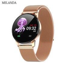 Новые смарт-часы для фитнеса женские Беговые пульсометр Bluetooth шагомер сенсорные умные спортивные умные часы для мужчин и женщин