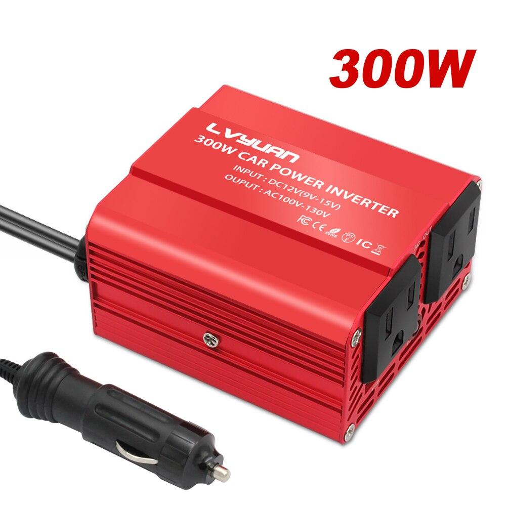 Автомобильный инвертор напряжения 300 Вт 12 В постоянного тока в 110 В переменного тока с 3,1 а двойным USB автомобильный адаптер конвертер модифи...