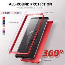 Luxury Full Cover Phone Case For Samsung Galaxy G532 G570 J330 J400 J410 J415 J510 J530 J600 J610 J710 J730 J810With Glass Cases
